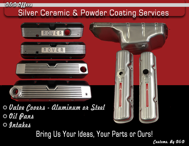 Silver Ceramic and Powder Coating Services Available